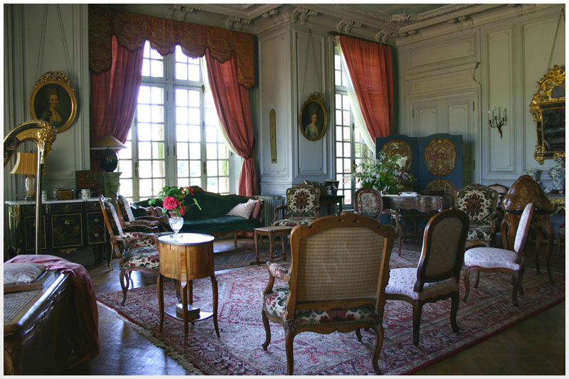 Le grand salon du Manoir de Villers